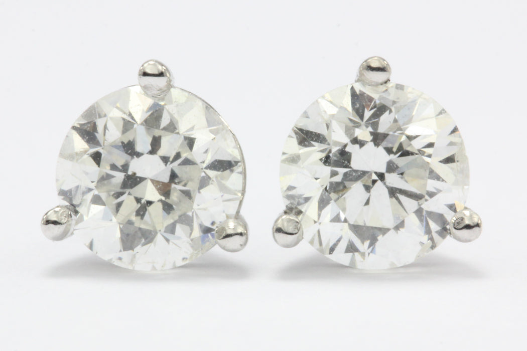1 CTW Diamond 14k White Gold Earring Studs 4