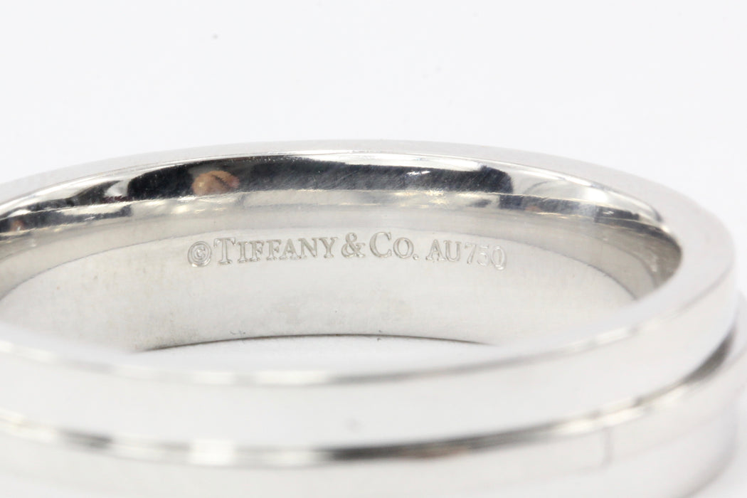 Tiffany & Co. T Two 18K White Gold  Ring - Queen May