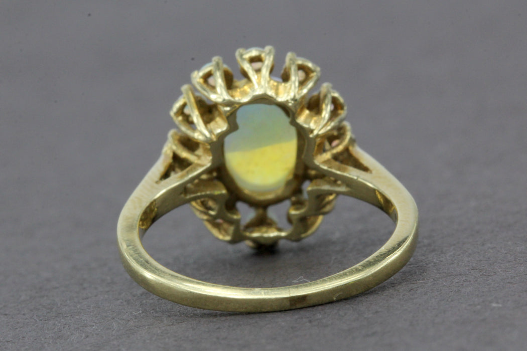 14K 1.06 Carat Cabochon Opal Ring - Queen May