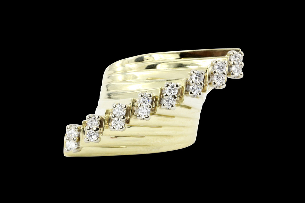 14K Yellow Gold .40 CTW Diamond Ring - Queen May