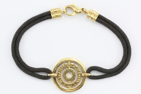 Bulgari Astrale 18K Yellow Gold & Black Cord Bracelet