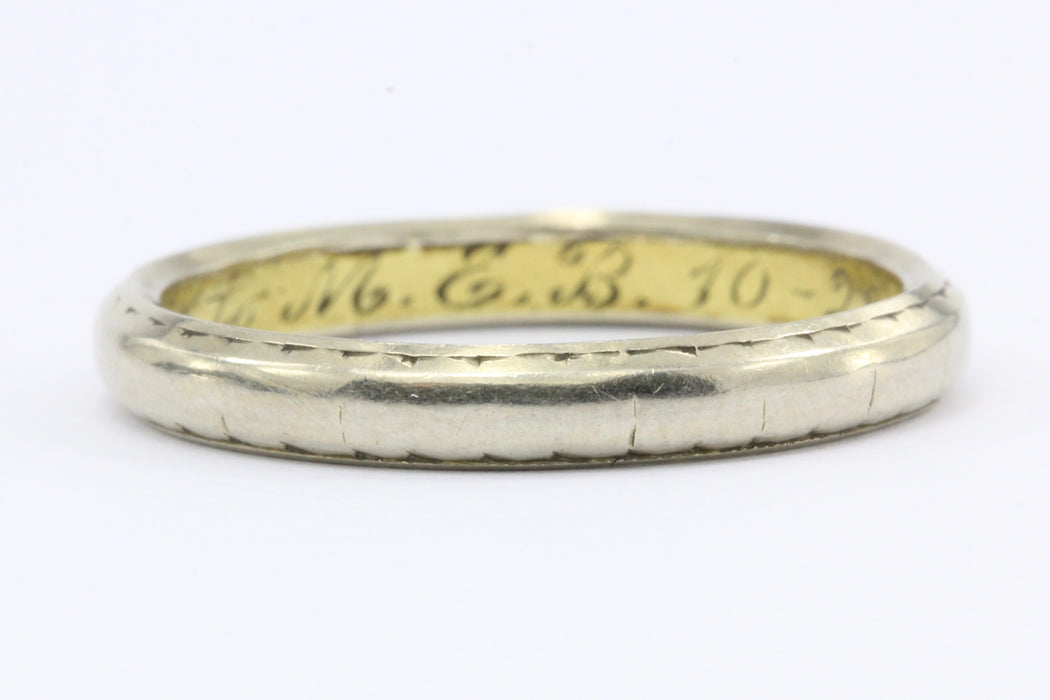 eternity ring silver bands band wedding to plated views fab sterling accent vintage more size style yellow double gold