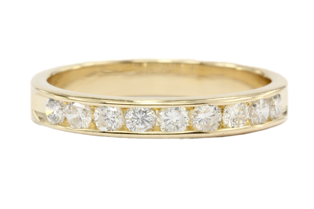 14K Gold 1/2 Carat Diamond Eternity Band Ring Size 6.75