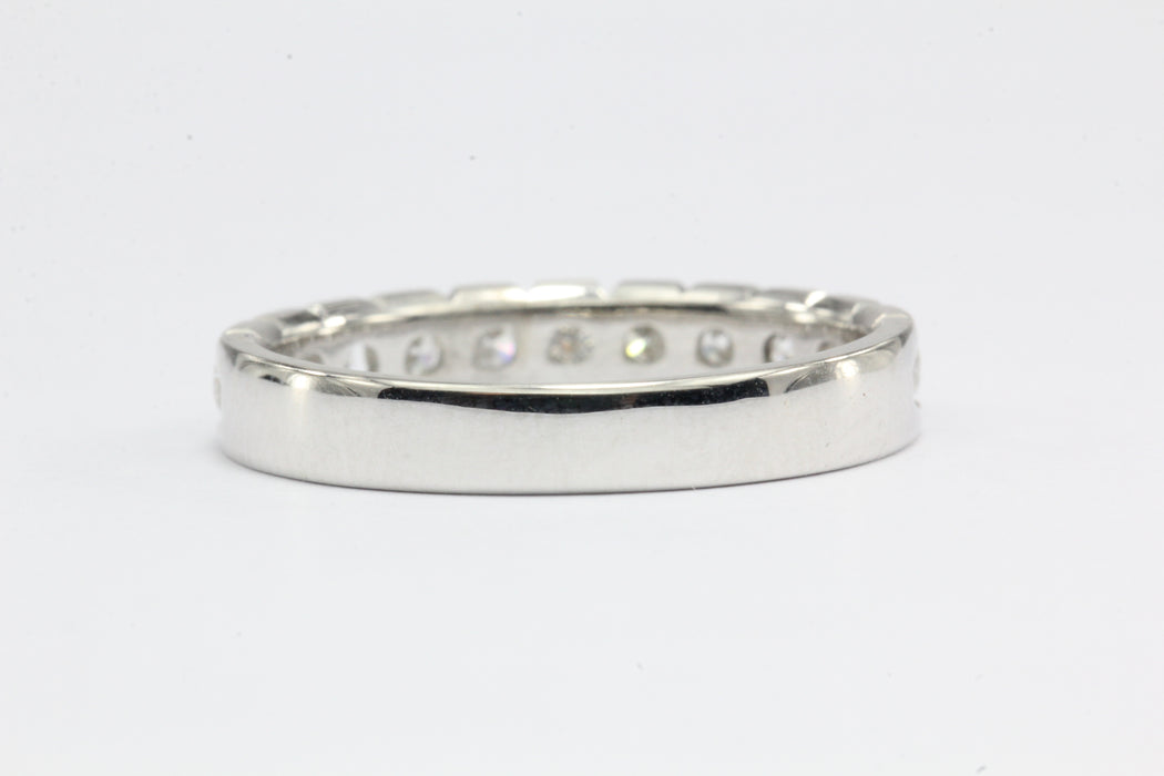 14k White Gold Diamond half Eternity Band .55 CTW Size 4.75 - Queen May