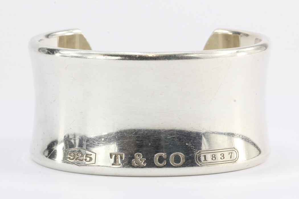 4f071bfc6 Tiffany & Co 1837 Sterling Silver Wide Cuff - Queen ...