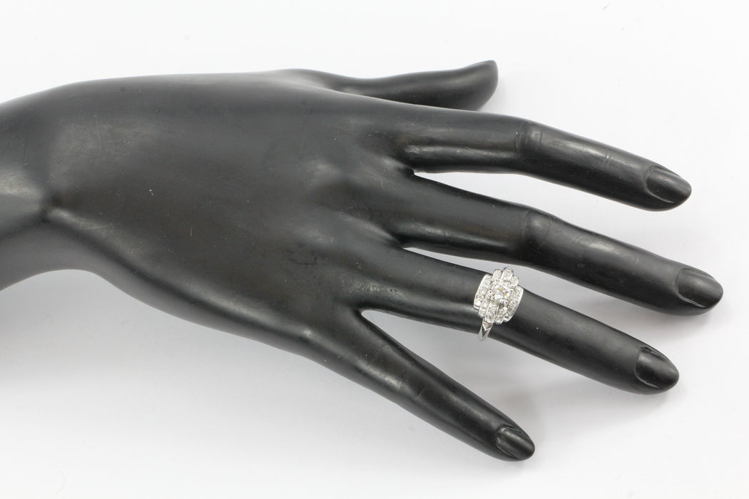 Art Deco 14K White Gold Old European Cut Diamond Engagement Ring c. 1930's - Queen May