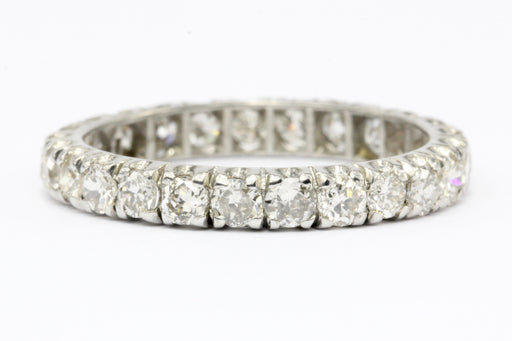 Art Deco Platinum Diamond Eternity Ring Band c.1930's