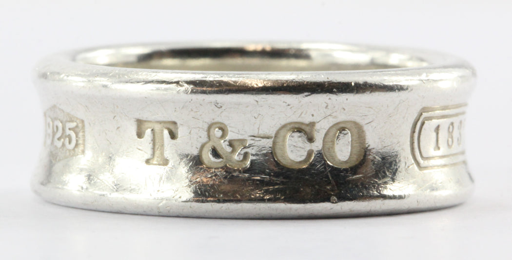 7b701325b Tiffany & Co Sterling Silver 1837 Size 7.25 Ring Band - Queen ...