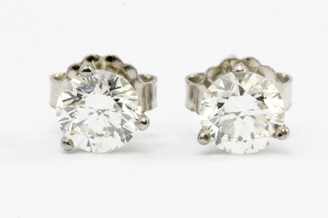 1.06 Carat 14K White Gold Martini Set Diamond Earring Studs