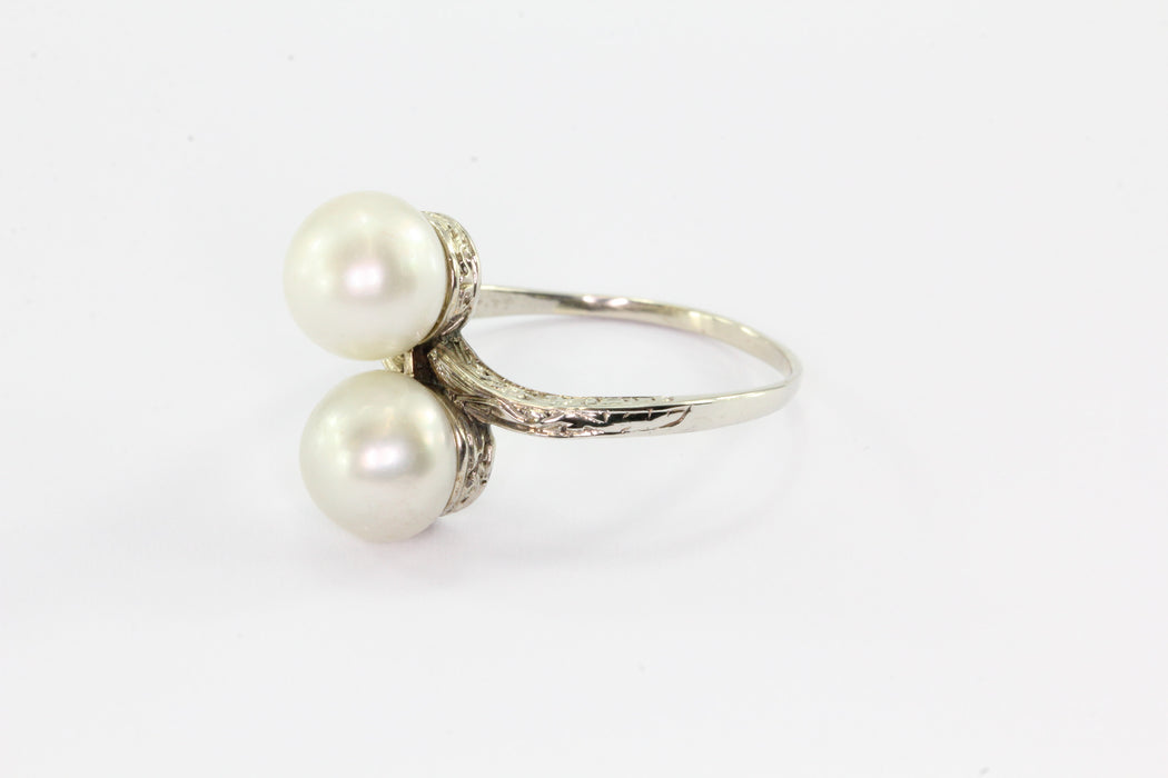 setting roundup gold pearl in make diamonds trendy ring how to rings with jewellery engagement