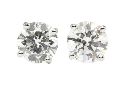 14K White Gold 2.6 CTW Diamond Stud Earrings NEW GIA Certified - Queen May