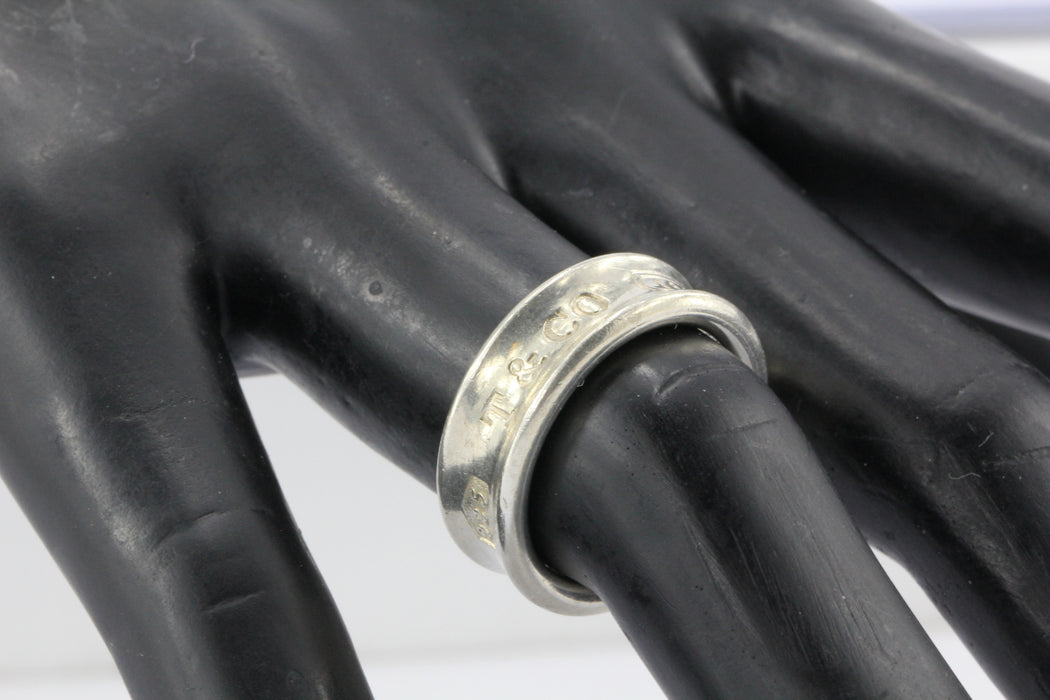 ea38e2be1 ... Tiffany & Co 1997 Sterling Silver 1837 Size 7 Ring Band - Queen ...
