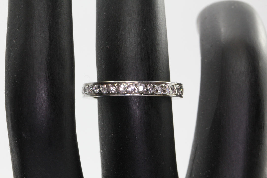 Antique Art Deco Platinum .75 CTW Diamond Eternity Band Ring Size 5.75 - Queen May
