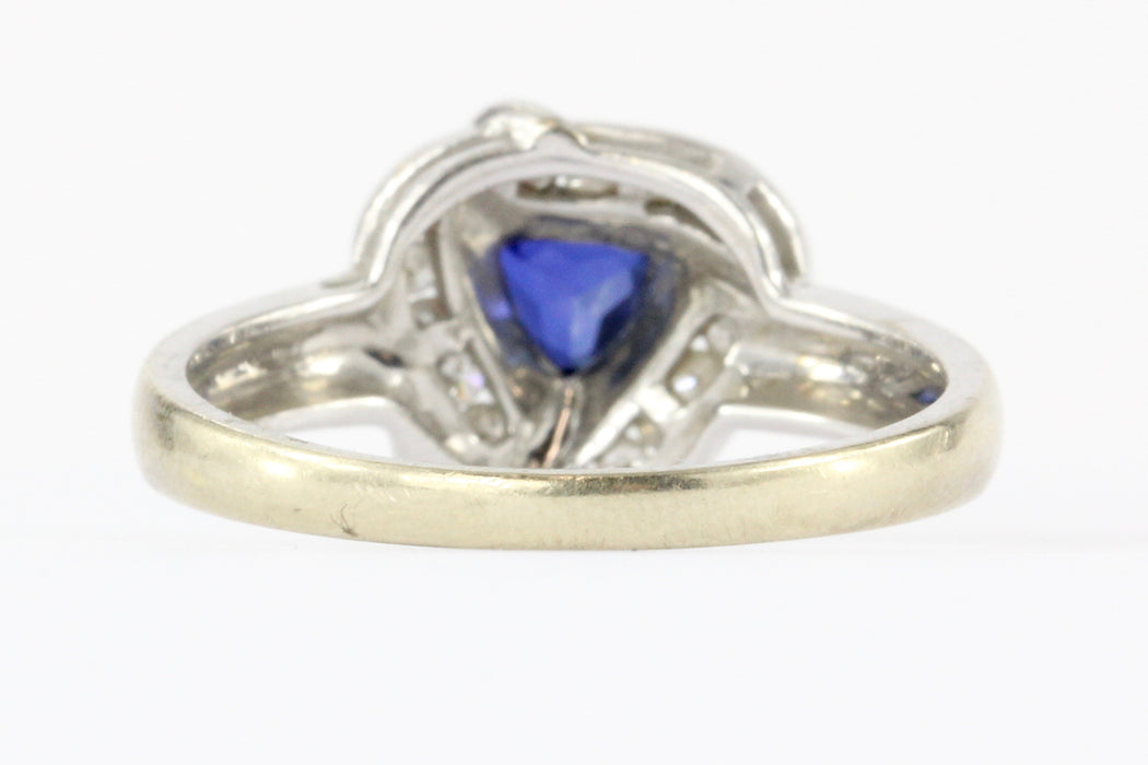 14K White Gold Blue Sapphire & Diamond Frank Lau Ring - Queen May