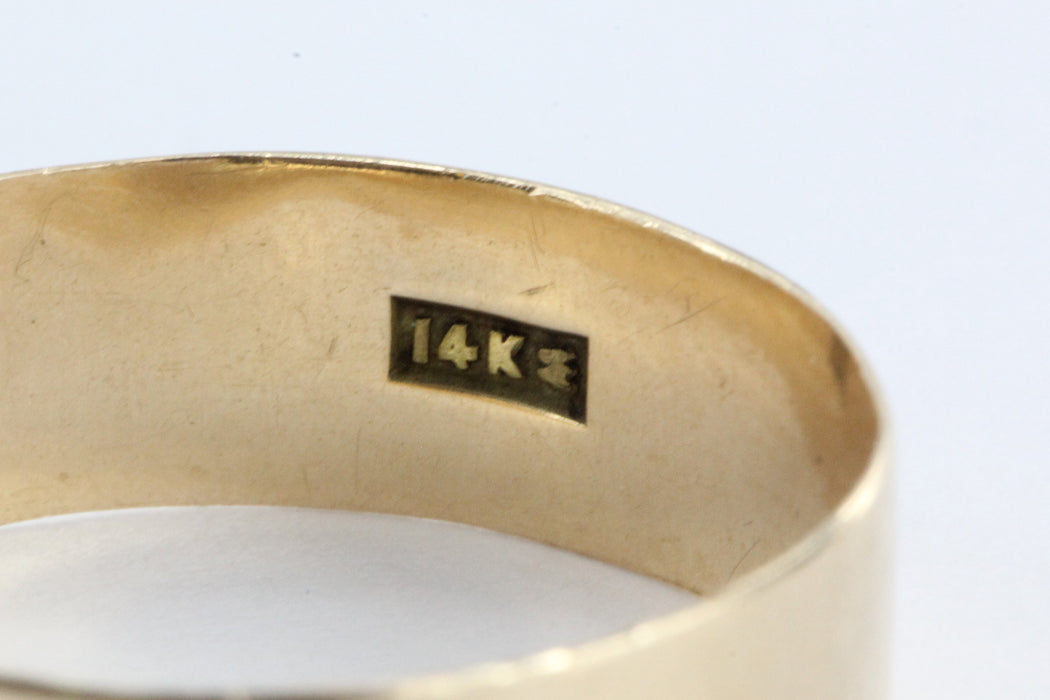 Victorian 14K Gold '99 Date Ring - Queen May