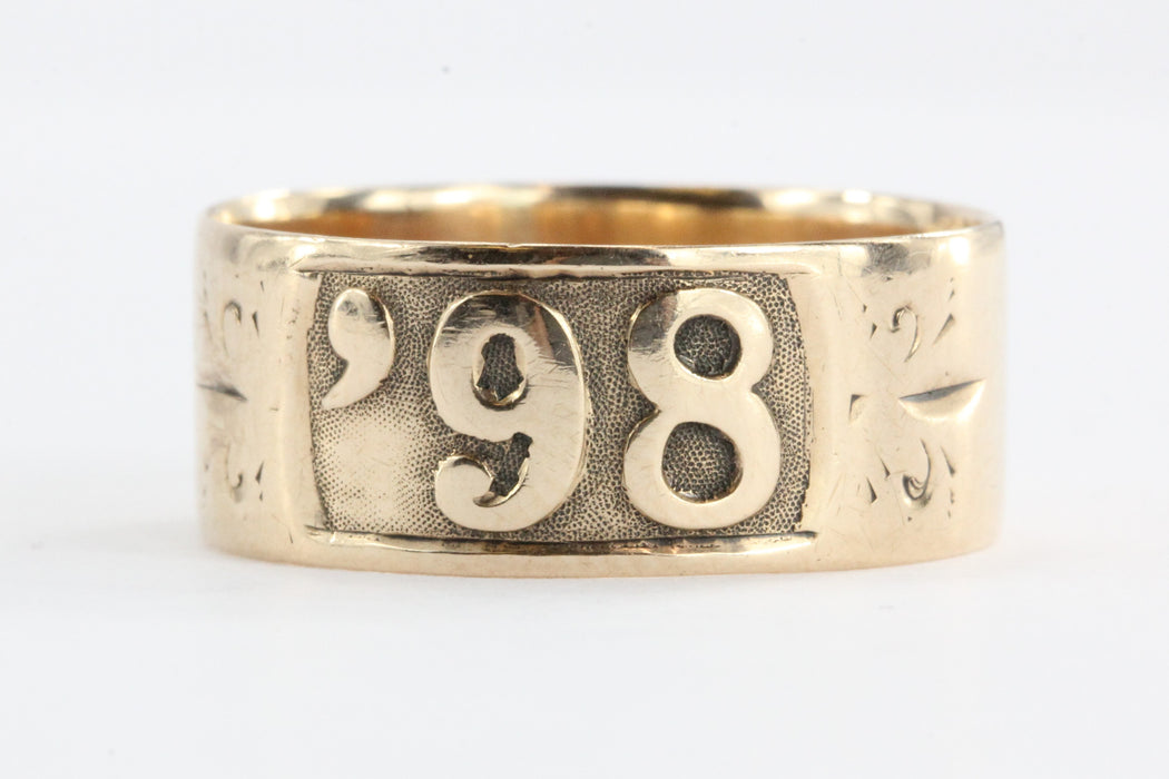 Victorian 14K Rose Gold '98 Date Ring - Queen May