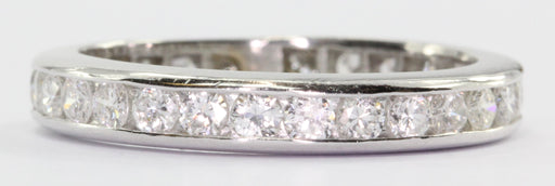 Vintage Platinum 1 CTW Diamond Eternity Band Ring Size 5
