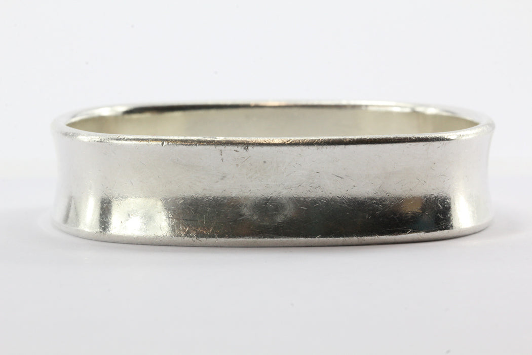 30adc9f21 ... Tiffany & Co Sterling Silver 1837 Collection Square Cushion Bangle  Bracelet - Queen ...