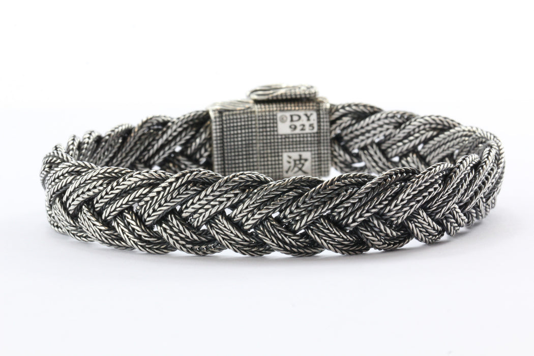 David Yurman Waves Collection Sterling Silver Woven Wave Bracelet - Queen May