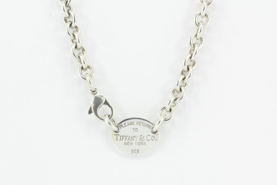 f7086e458f4ab Tiffany & Co Sterling Silver Please Return to Oval Tag Necklace 15