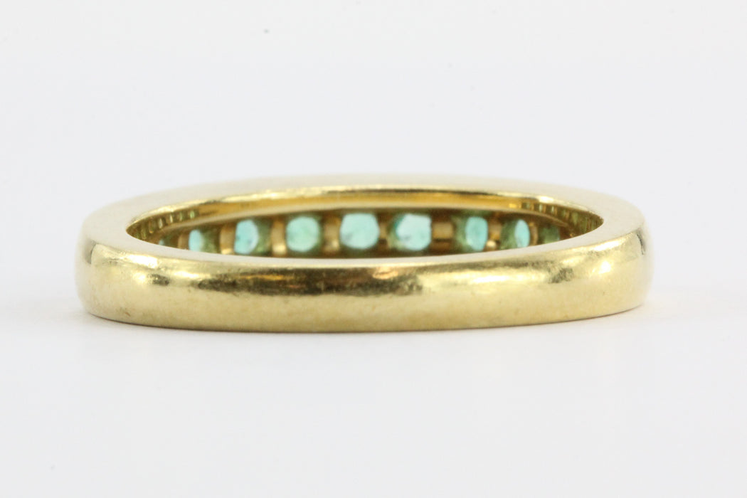 Vintage 18k Gold Colombian Emerald Band - Queen May