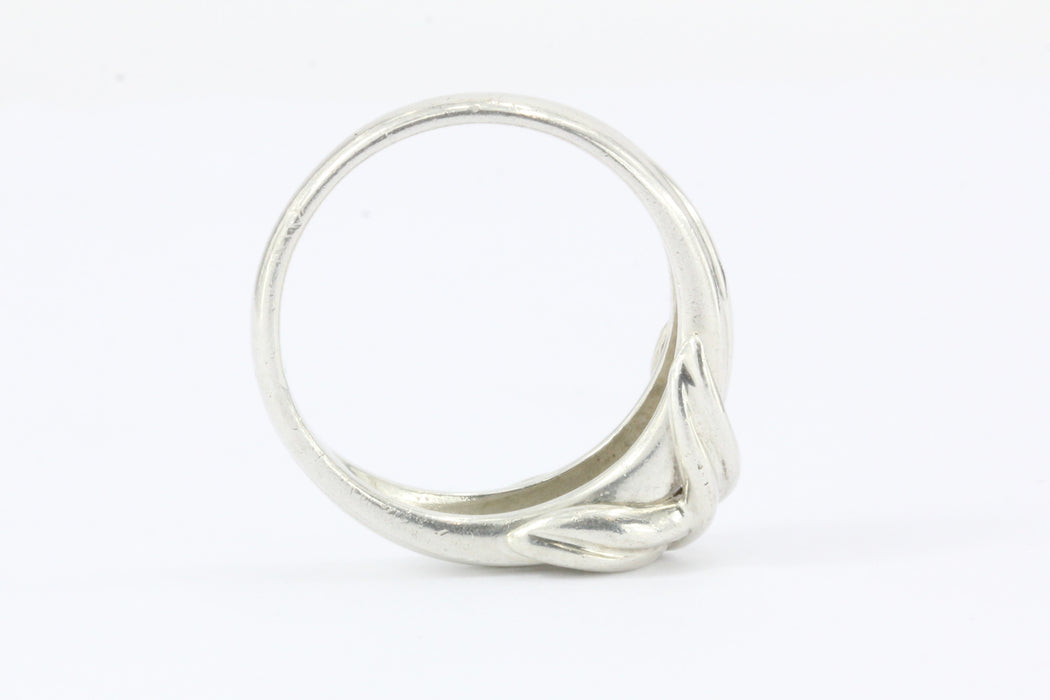Tiffany & Co Sterling Silver X Lovers Knot Ring Size 6.5 - Queen May