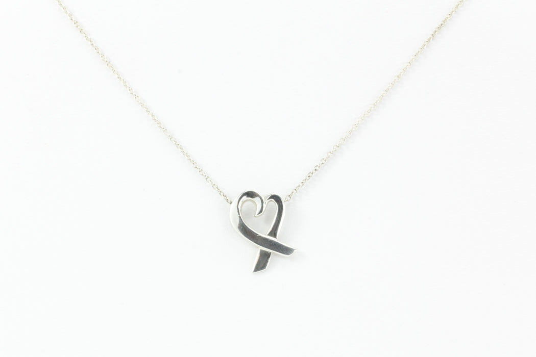 Tiffany & Co Sterling Silver Paloma Picasso Heart Necklace - Queen May