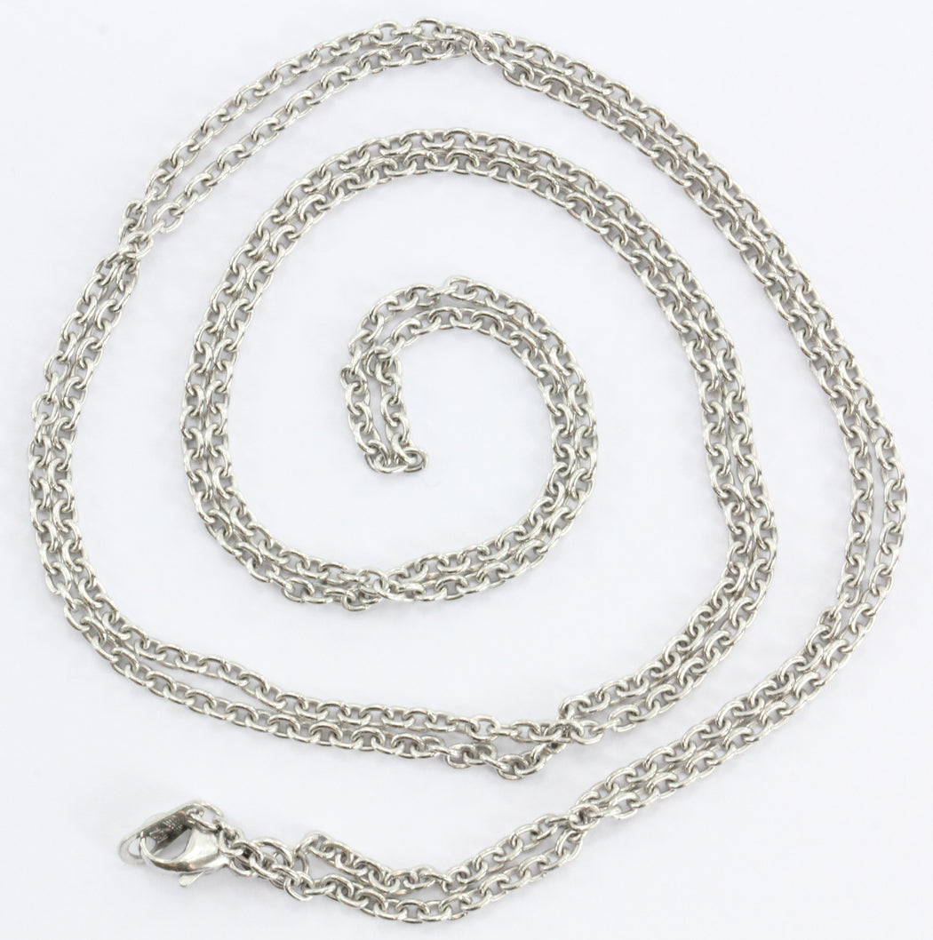 "30"" Platinum 95% Classic Link Necklace - Queen May"
