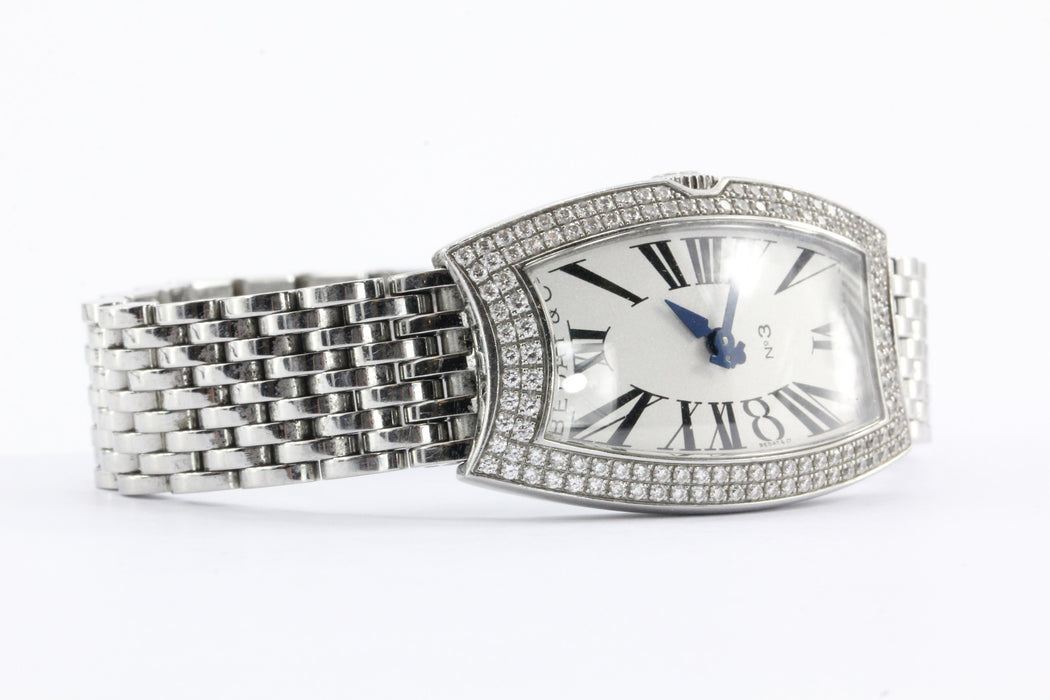 Bedat No 3 Diamond Bezel Stainless Steel Watch - Queen May