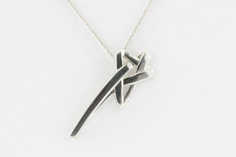 Tiffany & Co Sterling Silver Paloma Picasso Shooting Star Necklace