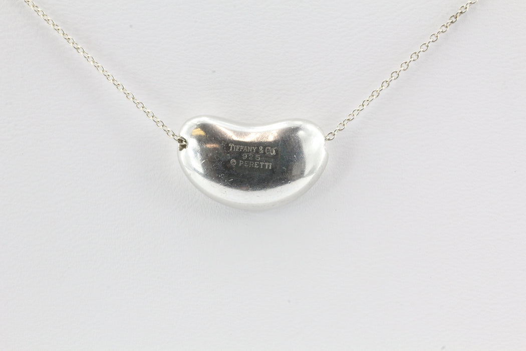 Tiffany & Co Sterling Silver Elsa Peretti Large Bean Necklace - Queen May