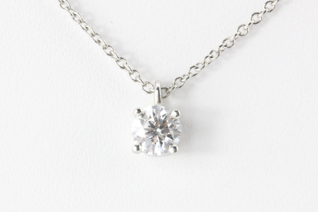 "Tiffany & Co Platinum .35 Carat Diamond Necklace 16.5"" - Queen May"