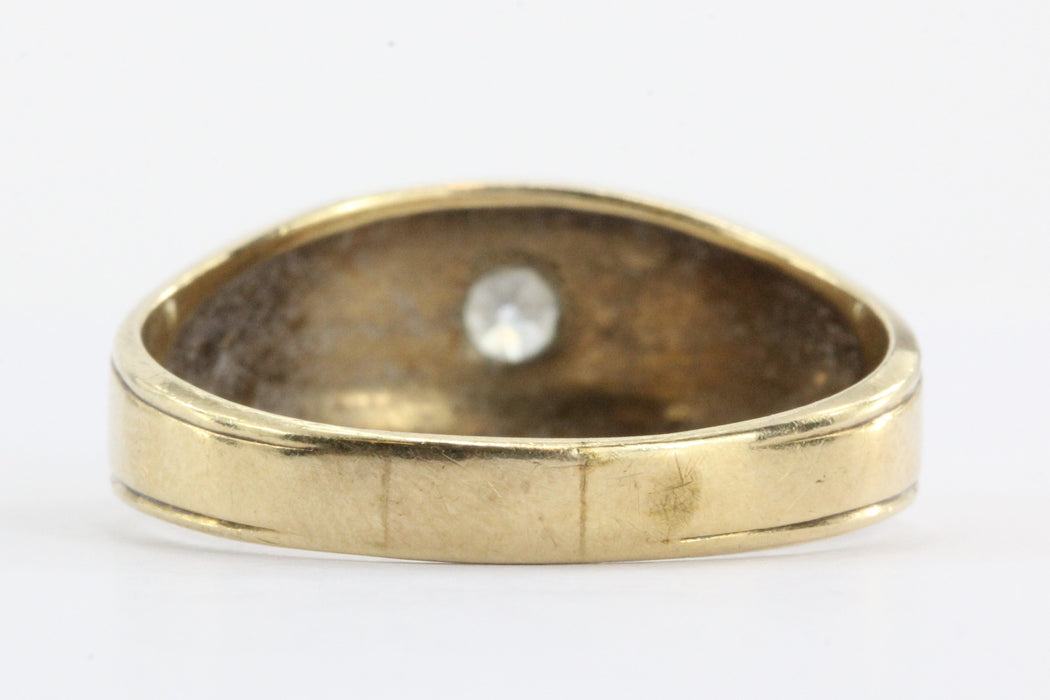 Antique Art Deco 14K Gold Old Mine Diamond Ring Dated June 1939 - Queen May