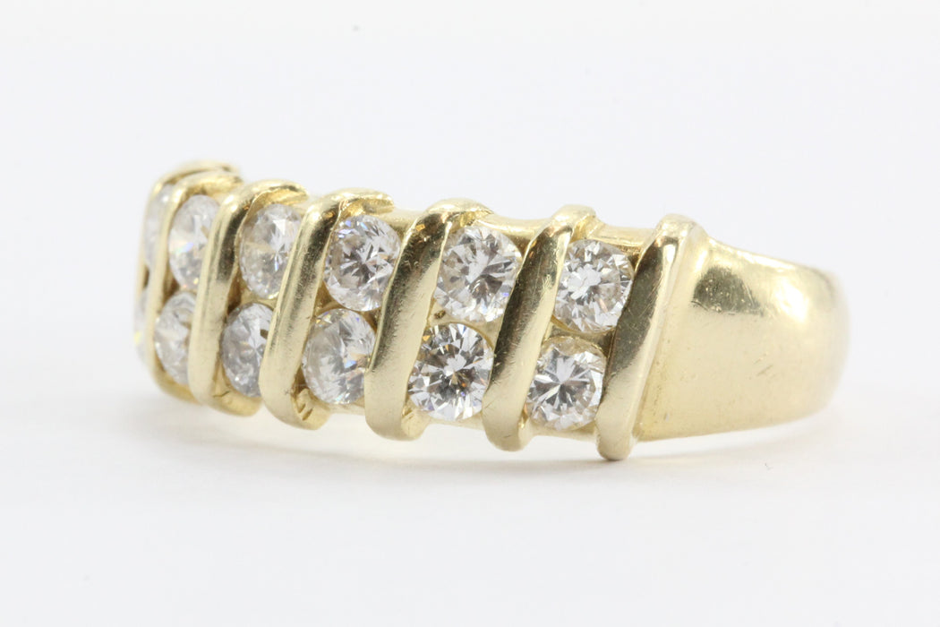 14K Gold .70 CTW Diamond Ring Band - Queen May