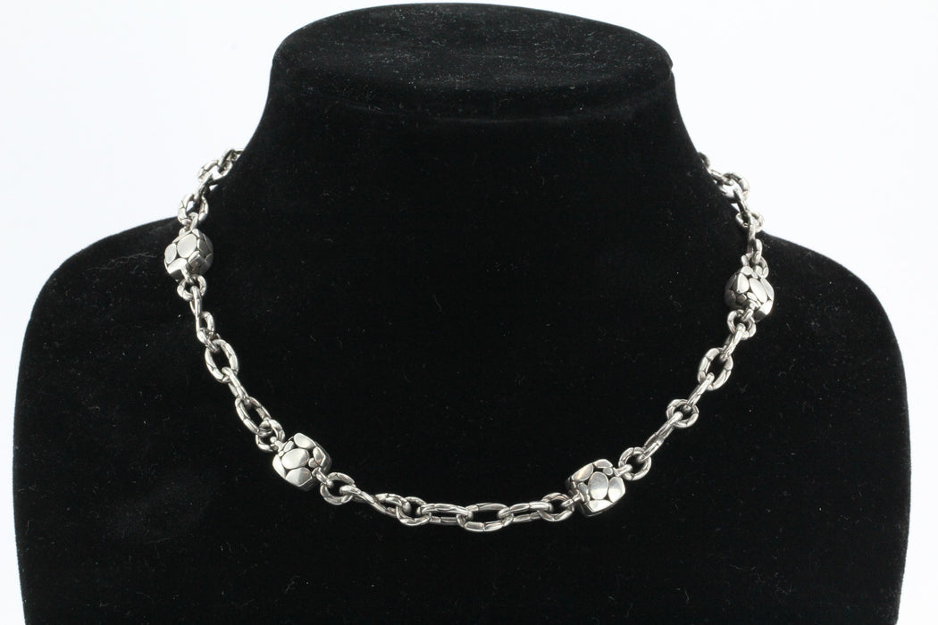"John Hardy Sterling Silver Kali Sautoir Square Station Necklace 18.5"" - Queen May"