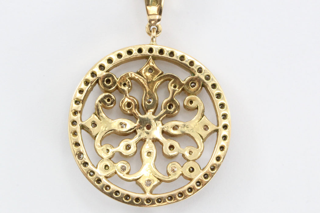 18K Rose Gold & Diamond Penny Preville Lace Pendant Necklace