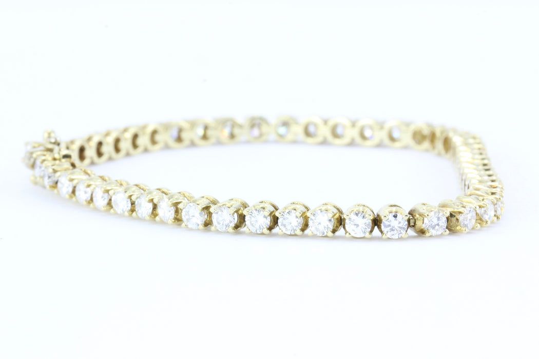3 Carat Diamond 14K Gold Tennis Bracelet