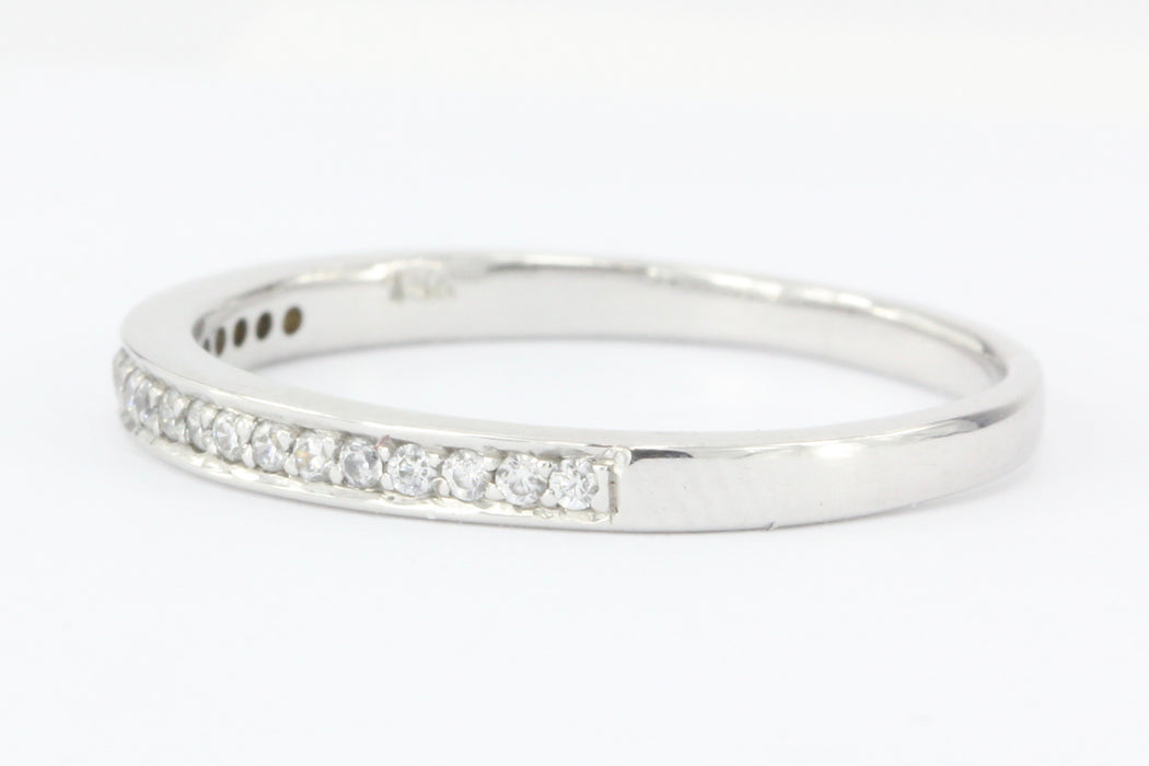 14K White Gold Half Eternity Diamond .15 ctw Band Ring Size 6.75 - Queen May