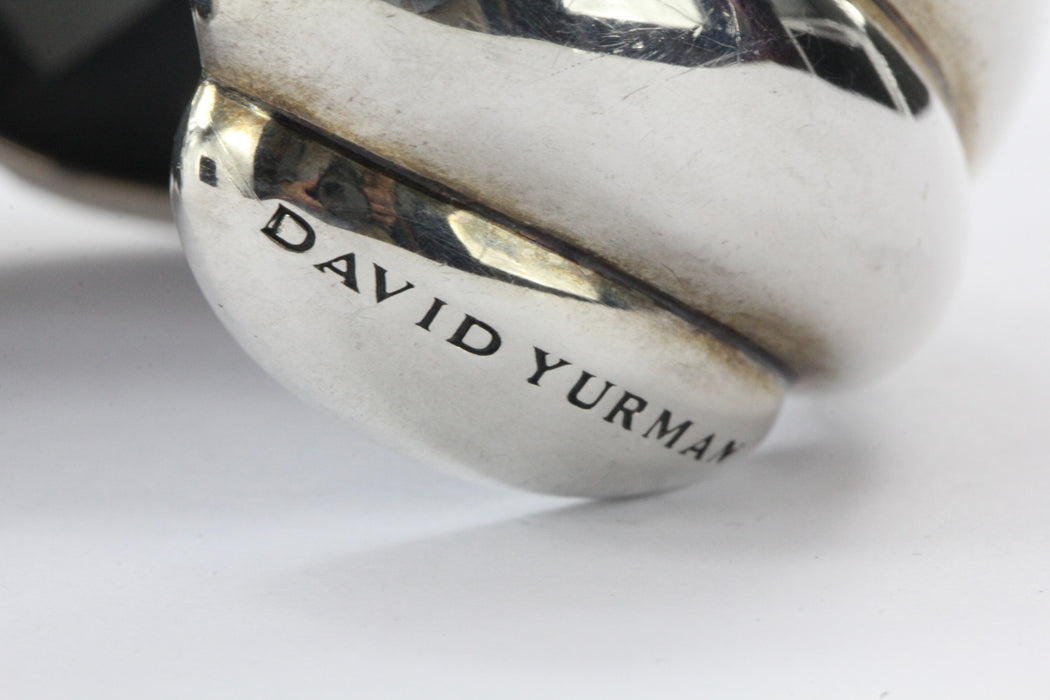 David Yurman Sterling Silver Extra Large Sculpted Cable Cuff Bracelet NWT - Queen May
