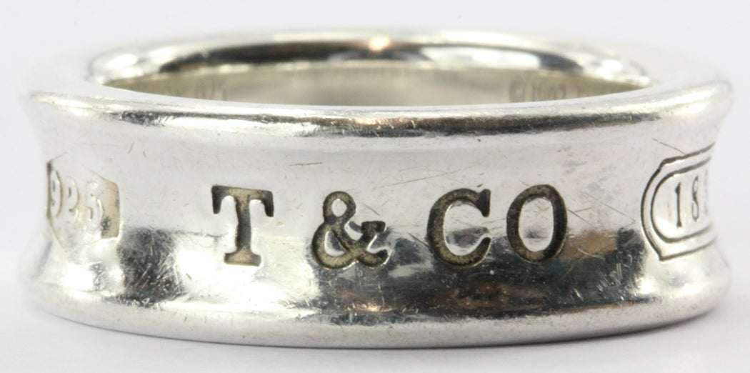 Tiffany & Co Sterling Silver 1837 Concave Band Ring Size 6 - Queen May
