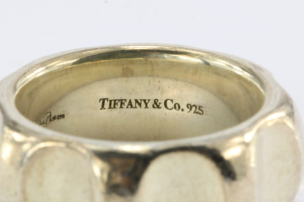 cef847431 ... Tiffany & Co Paloma Picasso Sterling Silver True Love Groove Ring Band  Size 6.5 - Queen ...