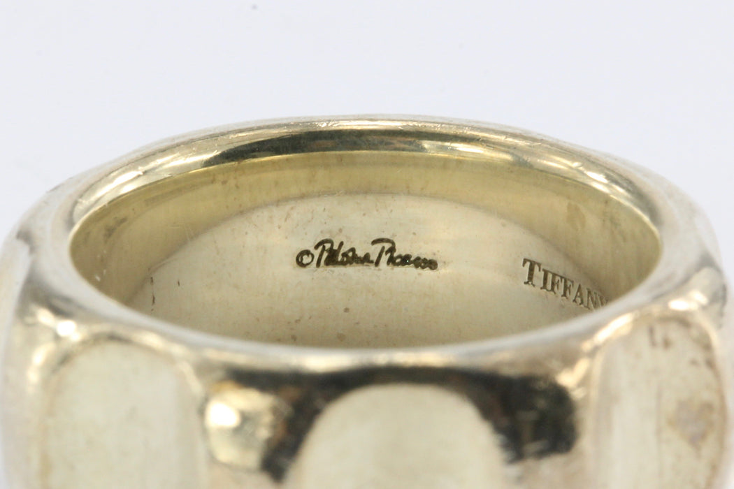 5559d9372 ... Tiffany & Co Paloma Picasso Sterling Silver True Love Groove Ring Band  Size 6.5 - Queen
