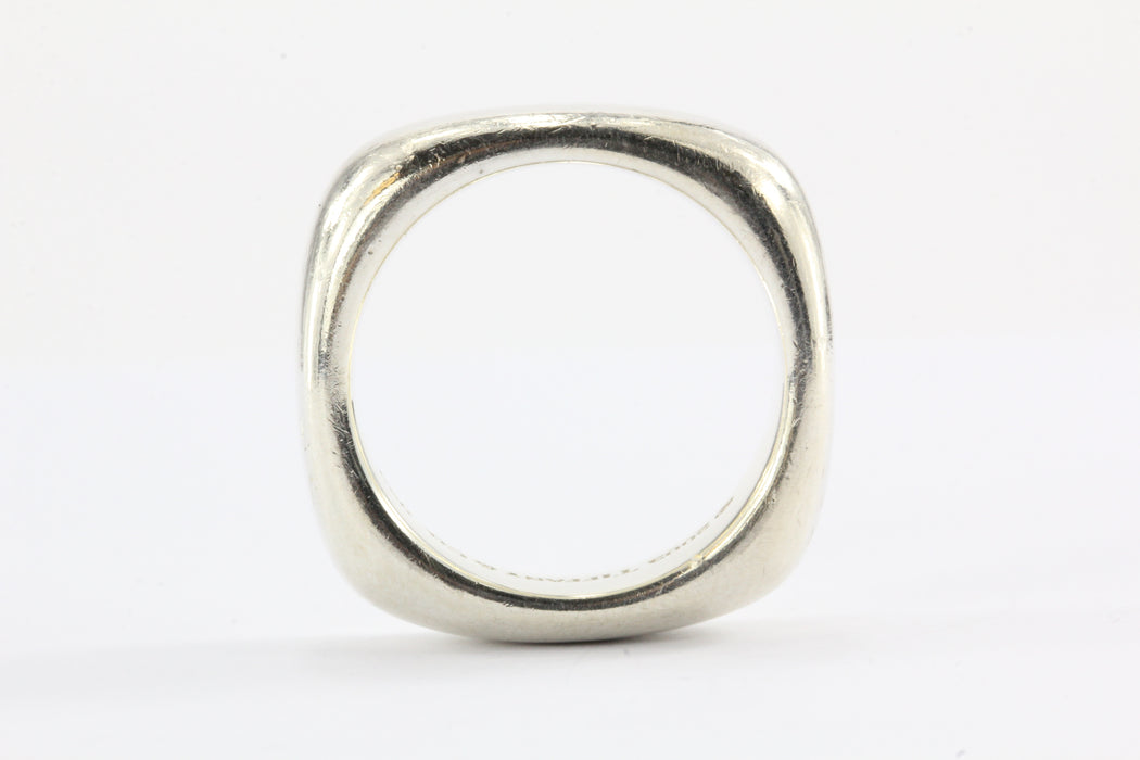 7d1596d7e ... Tiffany & Co Sterling Silver Square Cushion Band Ring Size 6.5 - Queen  ...