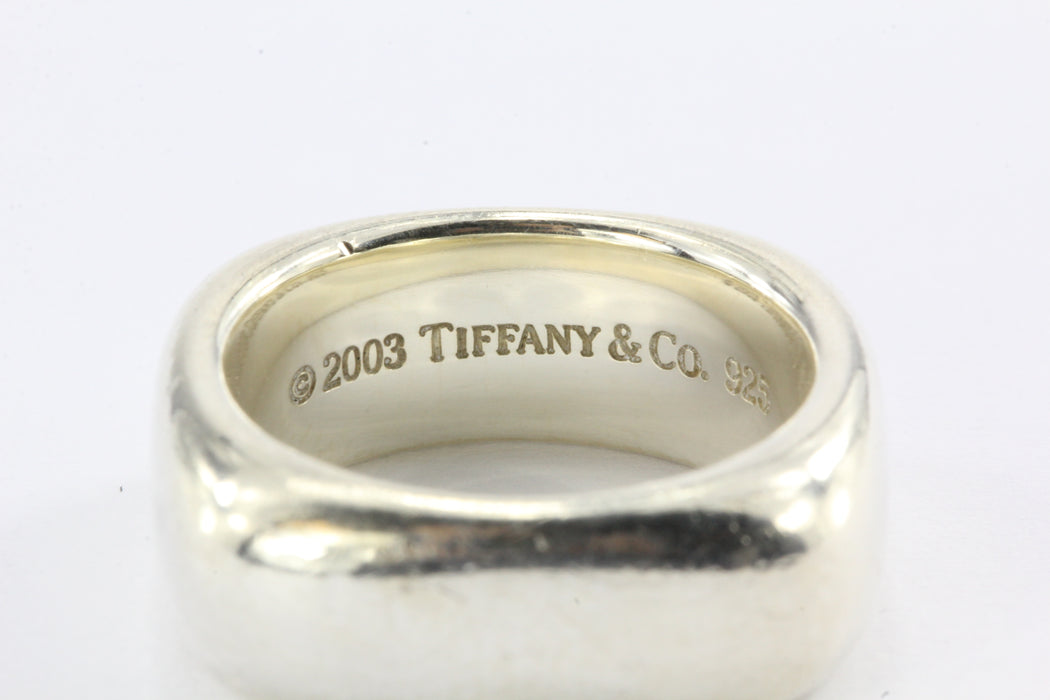 76c9554b0 ... Tiffany & Co Sterling Silver Square Cushion Band Ring Size 6.5 - Queen  May