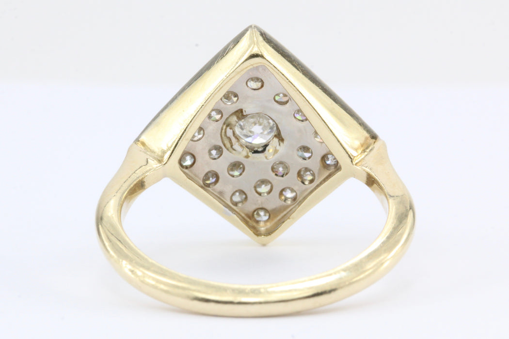 Retro 14K Gold Diamond Ring c.1950's - Queen May