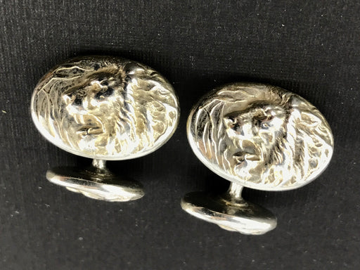 Victorian Sterling Silver Lion Cufflinks - Queen May