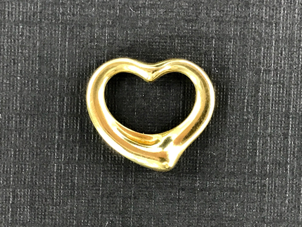 Tiffany & Co Elsa Peretti 18k Gold Small Open Heart Pendant - Queen May