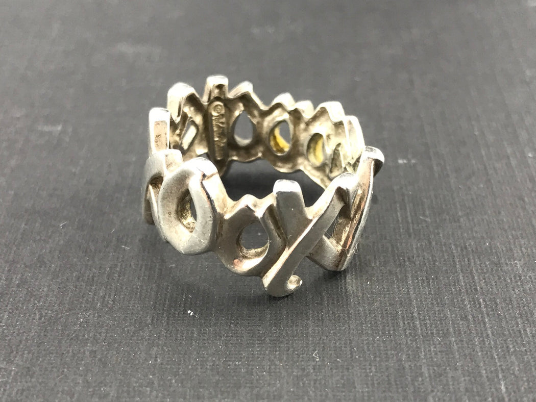 abfc569f8 Tiffany & Co Sterling Silver Paloma Picasso Xo Ring Band Size 6.25 - Queen  ...