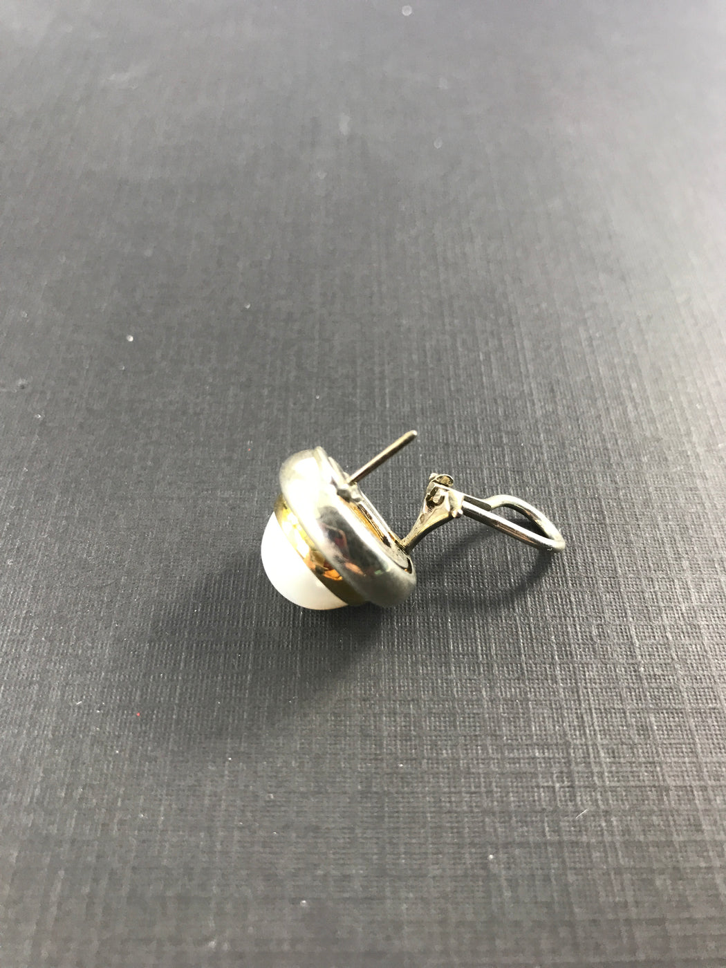 Tiffany & Co Sterling Silver 18K Gold Mabe Pearl Paloma Picasso Earrings c.1980's - Queen May