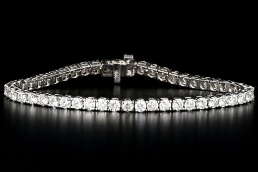 Modern 18K White Gold 6 Carat Diamond Tennis Bracelet - Queen May